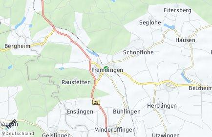 Stadtplan Fremdingen
