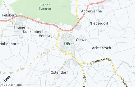 Stadtplan Freren