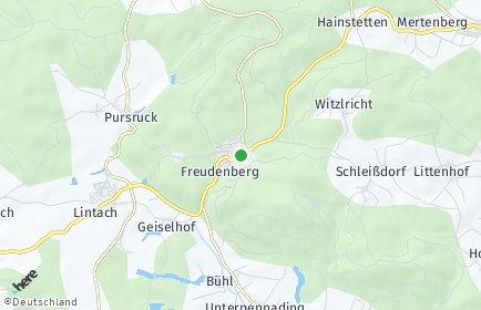 Stadtplan Freudenberg (Oberpfalz)