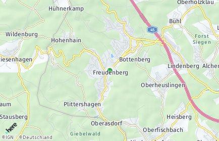 Stadtplan Freudenberg (Siegerland)