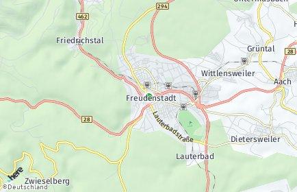 Stadtplan Freudenstadt