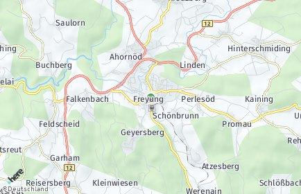 Stadtplan Freyung