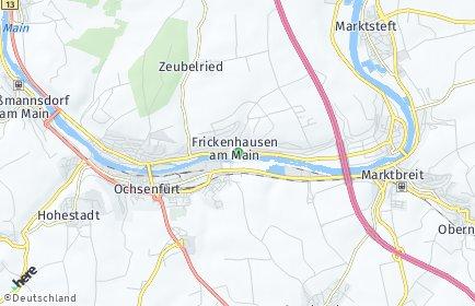 Stadtplan Frickenhausen am Main