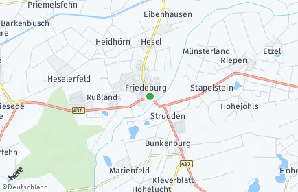 Stadtplan Friedeburg