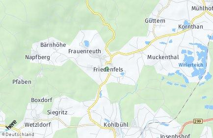 Stadtplan Friedenfels