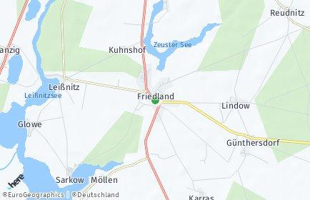 Stadtplan Friedland (Niederlausitz)