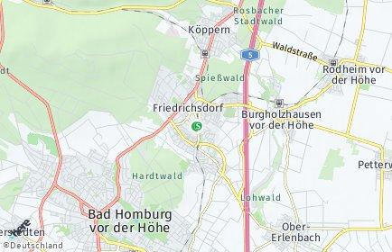 Stadtplan Friedrichsdorf