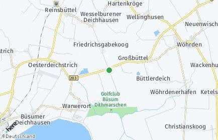 Stadtplan Friedrichsgabekoog