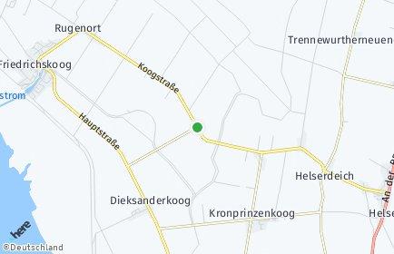 Stadtplan Friedrichskoog