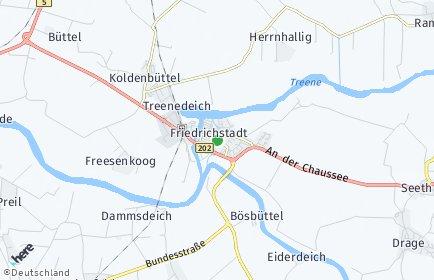 Stadtplan Friedrichstadt