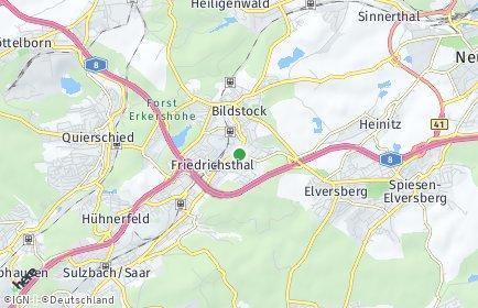 Stadtplan Friedrichsthal (Saar)