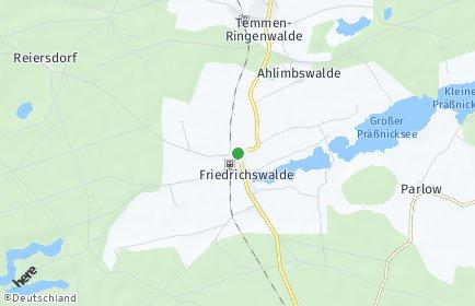 Stadtplan Friedrichswalde