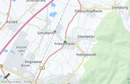 Stadtplan Friesenheim (Baden)