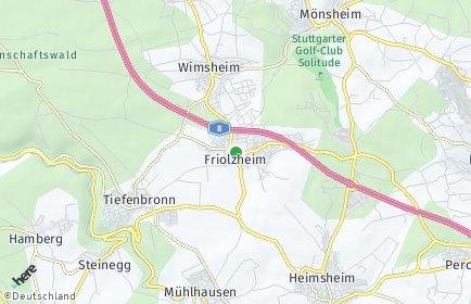 Stadtplan Friolzheim