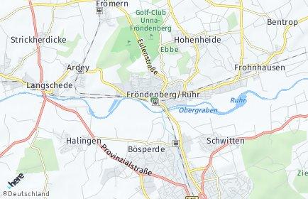Stadtplan Fröndenberg/Ruhr