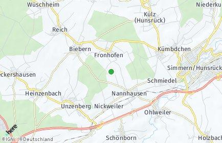 Stadtplan Fronhofen bei Simmern