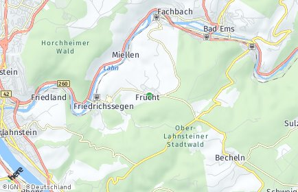 Stadtplan Frücht
