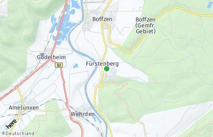 Stadtplan Fürstenberg (Weser)