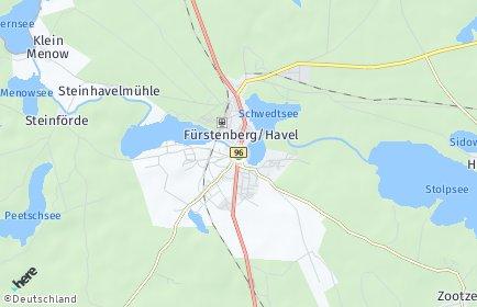 Stadtplan Fürstenberg/Havel