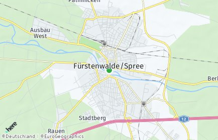 Stadtplan Fürstenwalde/Spree