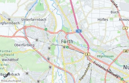Stadtplan Fürth OT Poppenreuth