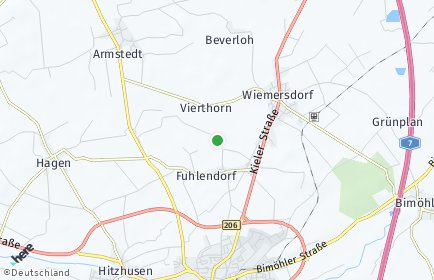 Stadtplan Fuhlendorf bei Wiemersdorf