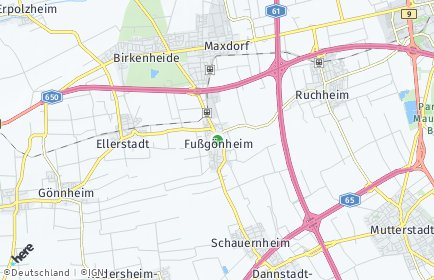 Stadtplan Fußgönheim