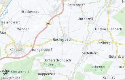 Stadtplan Gachenbach OT Hardt