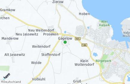 Stadtplan Gägelow