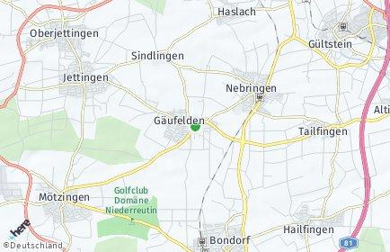 Stadtplan Gäufelden