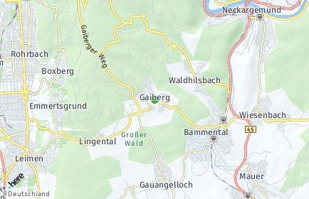 Stadtplan Gaiberg