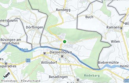 Stadtplan Gailingen am Hochrhein