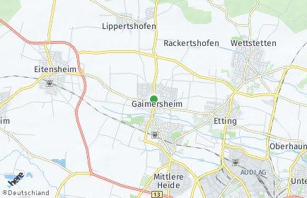 Stadtplan Gaimersheim