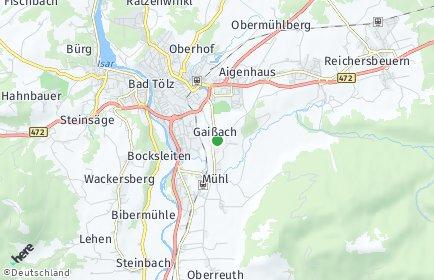 Stadtplan Gaißach