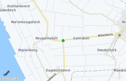 Stadtplan Galmsbüll