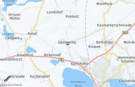 Stadtplan Gammelby