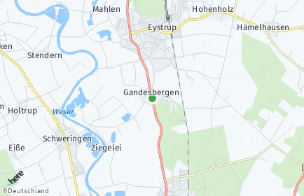 Stadtplan Gandesbergen