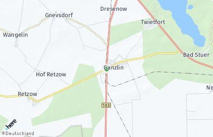 Stadtplan Ganzlin