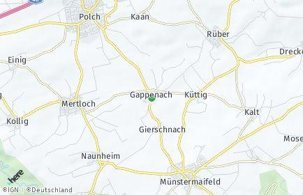 Stadtplan Gappenach