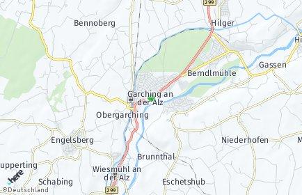 Stadtplan Garching an der Alz