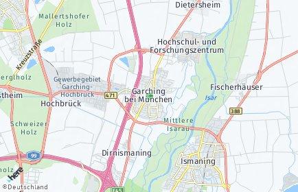 Stadtplan Garching bei München