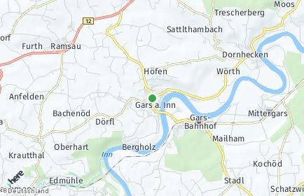 Stadtplan Gars am Inn