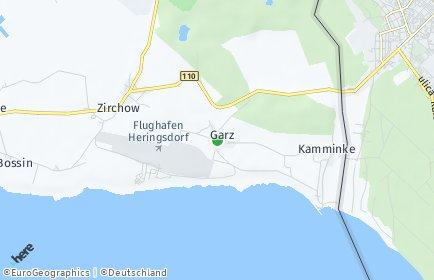 Stadtplan Garz (Usedom)