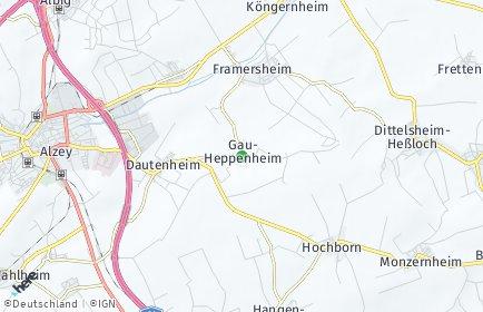 Stadtplan Gau-Heppenheim