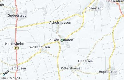 Stadtplan Gaukönigshofen