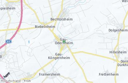 Stadtplan Gau-Odernheim