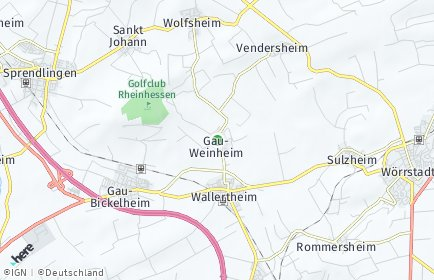 Stadtplan Gau-Weinheim