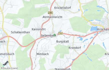 Stadtplan Gebenbach