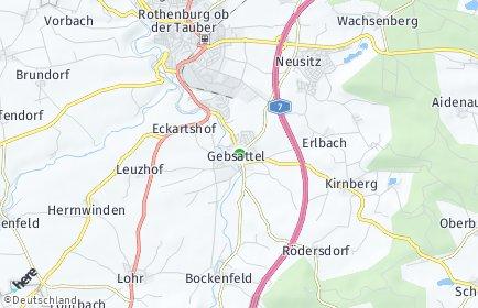Stadtplan Gebsattel
