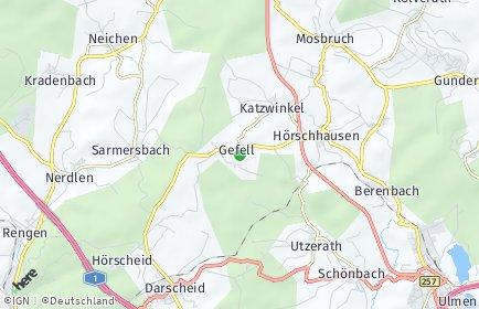 Stadtplan Gefell (Eifel)